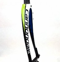 Cannondale SuperSix White/Green/Blue 45mm Rake Carbon Road Fork
