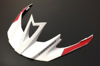 Cannondale Ryker Helmet Visor - White and Red